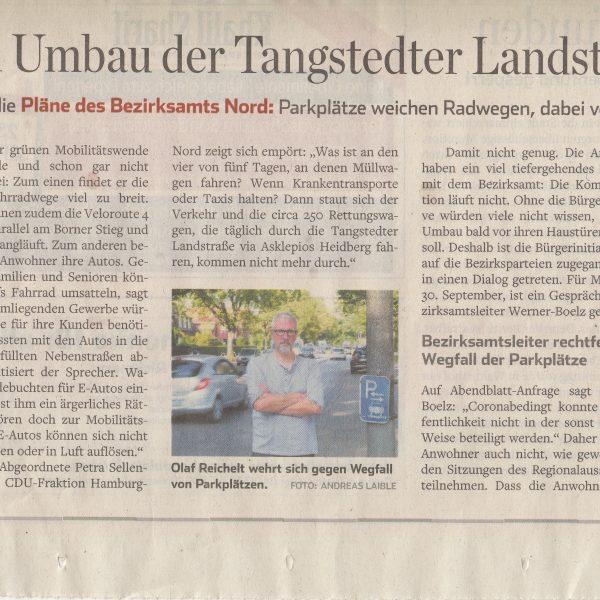 Hamburger Abendblatt: Großer Ärger um Umbau der Tangstedter Landstraße